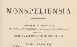 """Accéder à la page """"La Société archéologique de Montpellier et ses publications"""""""