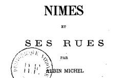 """Accéder à la page """"Edifices & rues de Nîmes"""""""