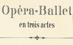 """Accéder à la page """"Opéra-Ballet"""""""