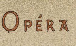 """Accéder à la page """"Opéra"""""""