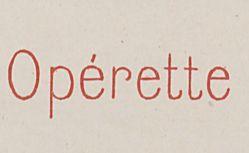 """Accéder à la page """"Opérette"""""""