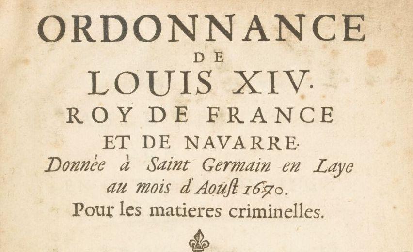 [Acte royal. 1670-08-00. Saint-Germain-en-Laye]. Ordonnance... pour les matières criminelles