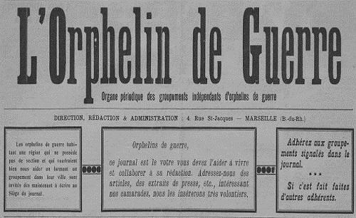 """Accéder à la page """"Orphelin de guerre (L') (Marseille)"""""""