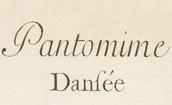 """Accéder à la page """"Pantomime"""""""