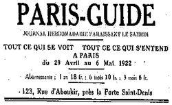 """Accéder à la page """"Paris-Guide"""""""