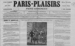 """Accéder à la page """"Paris-plaisirs : Paris-annonces"""""""