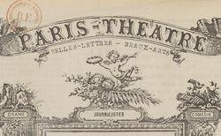"""Accéder à la page """"Paris-théâtre"""""""