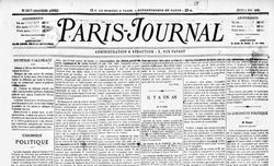 """Accéder à la page """"Paris Journal"""""""