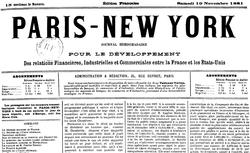 """Accéder à la page """"Paris-New-York"""""""