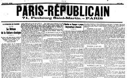"""Accéder à la page """"Paris-Républicain"""""""
