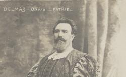 """[Enregistrements sonores] / Jean-François Delmas dans """"Patrie"""" de Paladilhe, Opéra, 1907 / D'après un cliché Du Guy, Paris, 1908 - source : gallica.bnf.fr / BnF"""