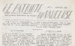 """Accéder à la page """"Patriote du Vaucluse (Le)"""""""