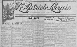 """Accéder à la page """"Patriote lorrain (Le)"""""""