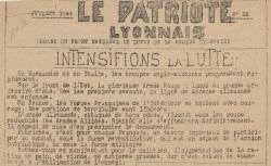 """Accéder à la page """"Patriote lyonnais (Le)"""""""