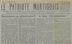 """Accéder à la page """"Patriote martiguais (Le)"""""""