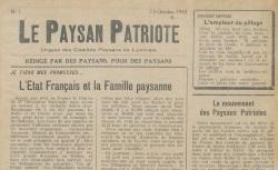 """Accéder à la page """"Paysan patriote (Le) (Lyonnais)"""""""