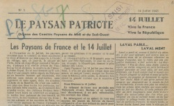 """Accéder à la page """"Paysan patriote (Le) (Midi, Sud-Ouest)"""""""
