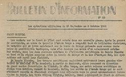"""Accéder à la page """"Bulletin d'information (Zone sud)"""""""