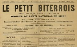 """Accéder à la page """"Petit Biterrois (Le)"""""""