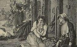 Salon de 1876. Le médecin Pinel visitant les folles à la Salpêtrière en 1795.