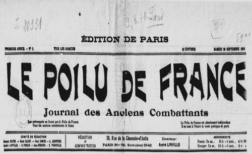 """Accéder à la page """"Poilu de France (Le)"""""""