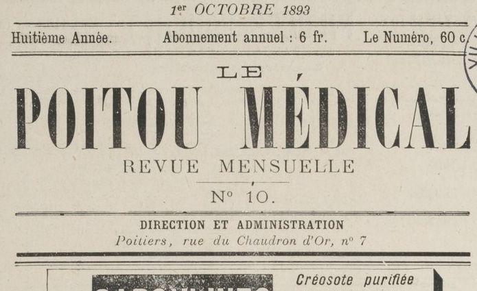 """Accéder à la page """"Poitou médical (Le)"""""""