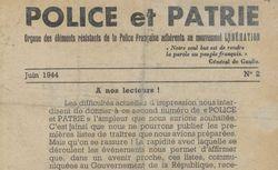 """Accéder à la page """"Police et patrie"""""""