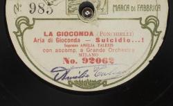 """La Gioconda. Aria di Gioconda : """"Suicidio...!"""" ; Ponchielli, comp. ; Amelia Talexis, soprano ; acc. de grand orchestre"""