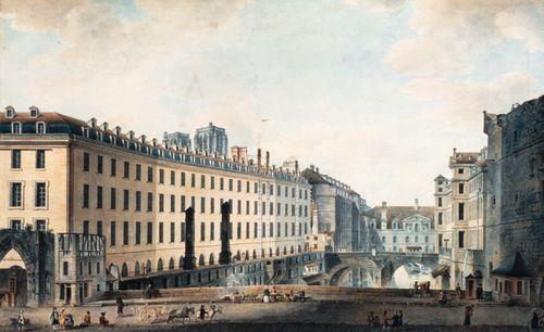 [Le Pont au Double, l'Hôtel-Dieu et le Petit Châtelet]. Victor-Jean Nicolle