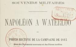 """Accéder à la page """"Pontécoulant, Napoléon à Waterloo"""""""