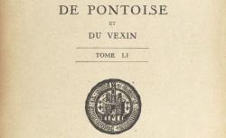 """Accéder à la page """"Société historique de Pontoise et du Vexin"""""""