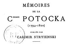 """Accéder à la page """"Potocka, comtesse, Mémoires"""""""