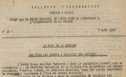 """Accéder à la page """"Bulletin d'information (presse  et radio) (Zone sud)"""""""