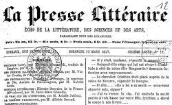 """Accéder à la page """"Presse littéraire (La) """""""