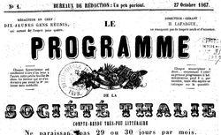 """Accéder à la page """"Programme de la Société Thalie (Le) """""""