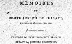 """Accéder à la page """"Puisaye, comte Joseph de, Mémoires"""""""