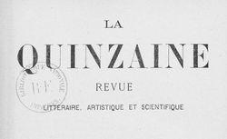 """Accéder à la page """"Quinzaine (La)"""""""
