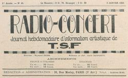 """Accéder à la page """"Radio-concert"""""""