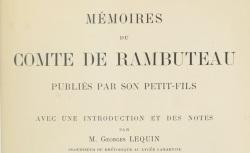 """Accéder à la page """"Rambuteau, comte de, Mémoires"""""""