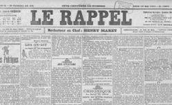 """Accéder à la page """"Rappel (Le)"""""""