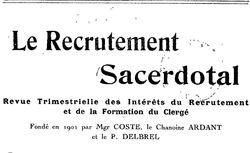 """Accéder à la page """"Recrutement sacerdotal (Le)"""""""