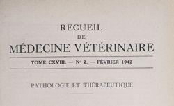 Recueil de médecine vétérinaire
