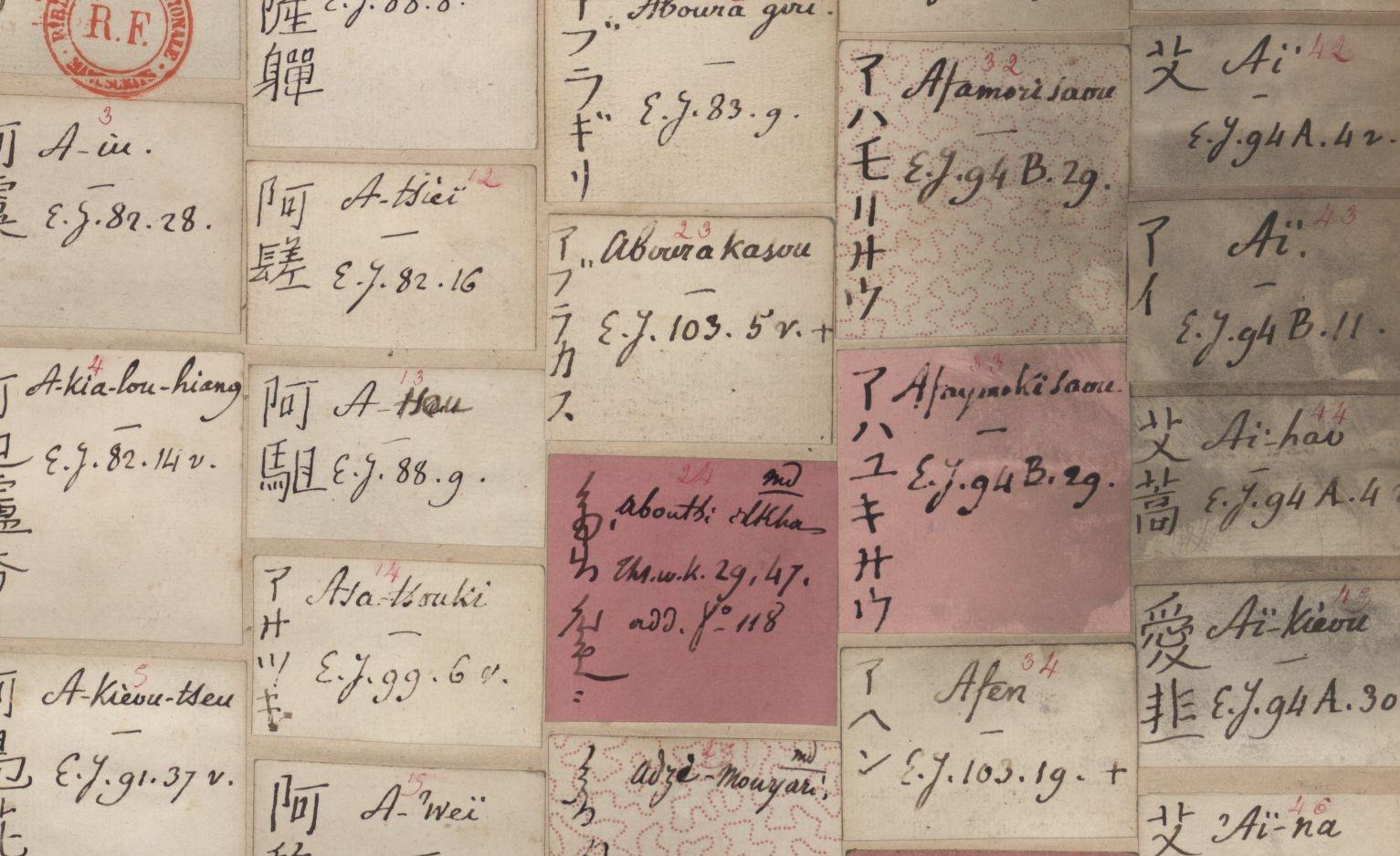 J.-P. Abel-Rémusat. Table alphabétique du Thsing-wen-kien. Japonais 392. vue 13 /