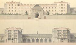 Projet d'un séminaire pour le diocèse de Rennes. Plan du rez-de-chaussée Henri Labrouste. 1856.
