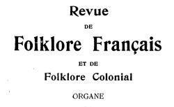 Revue de folklore français