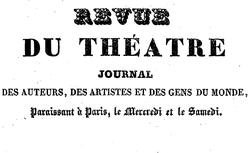 """Accéder à la page """"Revue du théâtre"""""""