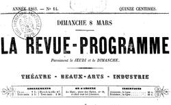 """Accéder à la page """"Revue-programme (La)"""""""