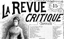 """Accéder à la page """"Revue critique (La) """""""