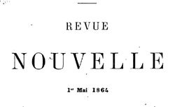 """Accéder à la page """"Revue nouvelle"""""""
