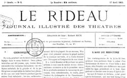 """Accéder à la page """"Rideau (Le)"""""""